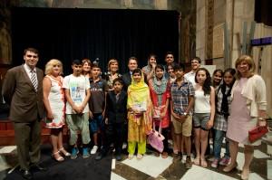 President i Malala amb Institut Eugeni d'Ors